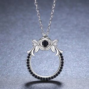 Black Spinel & Sterling Silver Necklace 10500